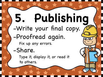 Writing Process Posters Freebie - Engineering Themed