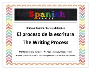 Writing Process Posters (English & Spanish)