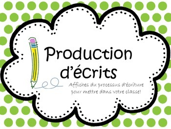 Writing Process Posters French (Production d'écrits)