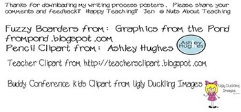 Writing Process Posters -- Grade 2 and Up