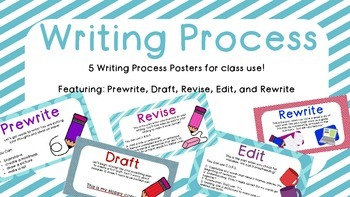 Writing Process Posters Grades 2,3,4