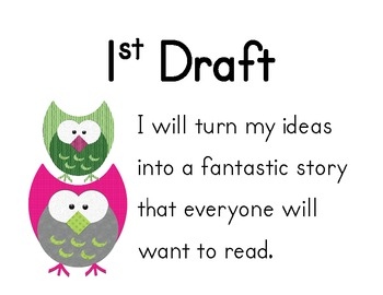 Writing Process Posters- Owl Theme