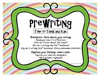 Writing Process Posters- Rainbow