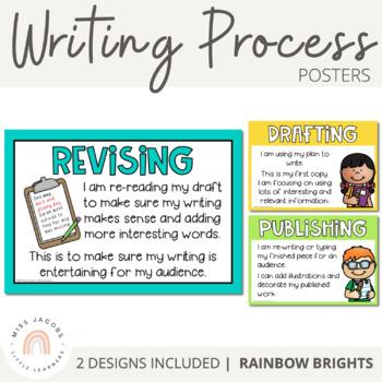 Writing Process Posters {Rainbow Theme}