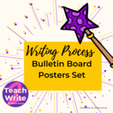Writing Process Posters Set for Bulletin Board Magical Theme