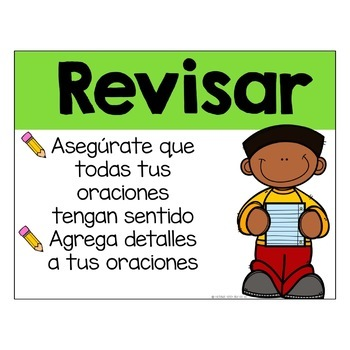 Writing Process Posters Spanish