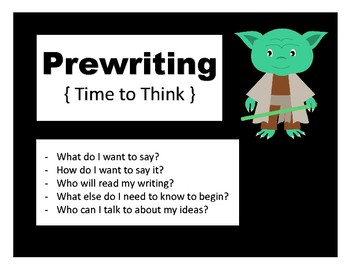 Writing Process Posters - Star Wars