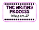 Writing Process Posters & Writing Clip chart BRIGHT Black & White
