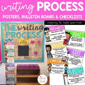 Writing Process Posters and Bulletin Board