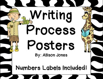 Writing Process Posters and Labels