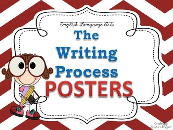 Writing Process Posters for the Classroom: Chevron Theme
