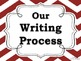 Writing Process Posters for the Classroom: Chevron Theme (Black, White, & Red)