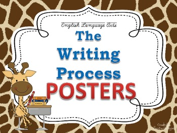 Writing Process Posters for the Classroom: Giraffe Theme