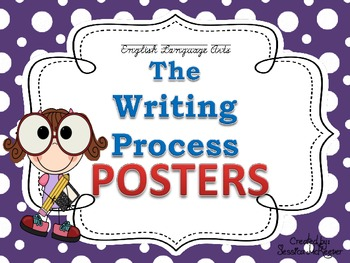 Writing Process Posters for the Classroom: Polka Dot Theme