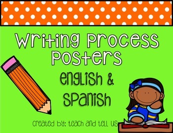 Writing Process Posters in English and Spanish