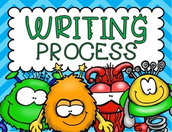 Writing Process Posters or Clip Chart Monster Theme