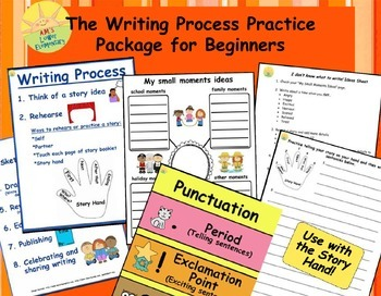 Writing Process Practice Package for Beginners