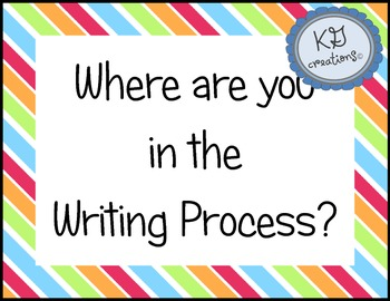 Writing Process Progress Chart