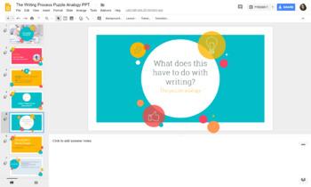 Writing Process Puzzle Analogy Activity