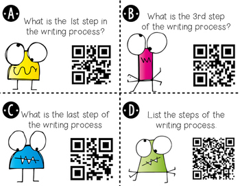 Writing Process QR Code Activity