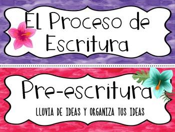 Writing Process - (SPANISH) Proceso de Escritura