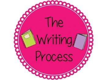 Writing Process Scalloped Circle Posters