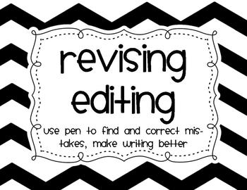 Writing Process Signs {Chevron Themed}