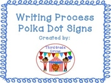Writing Process Signs with Polka Dot Frames