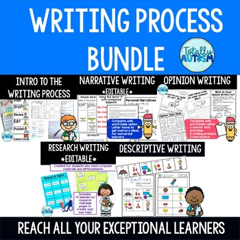 Writing Process {Special Education} Growing Bundle