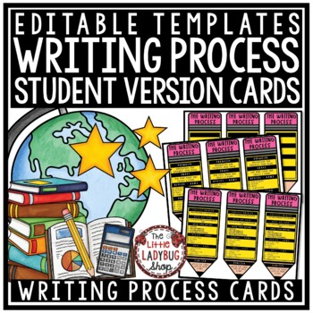 Editable Writing Process Pencil [Reference Cards for Student Writing Notebooks]