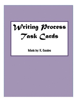 Writing Process Task Cards
