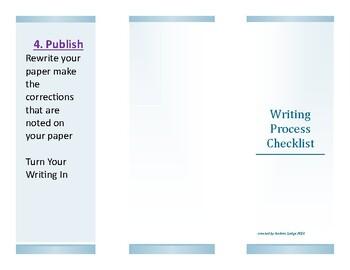 Writing Process To Do List Foldable