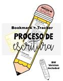 Writing Process Tracker Bookmark Poster - Proceso de escri