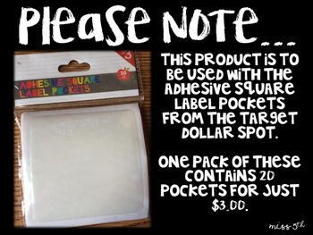 Writing Process Tracking Cards (for Adhesive Pocket Labels from Target)