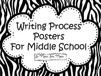 Writing Process Posters for Middle School