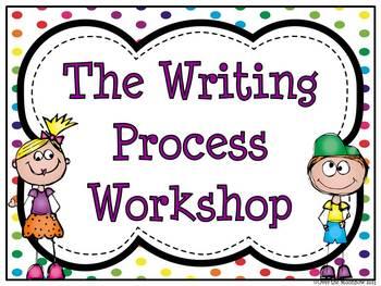 Writing Process Workshop Displays & Clip Chart –Polka Dot Rainbow
