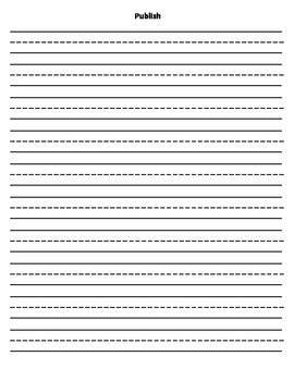 Writing Process Writing Sheets