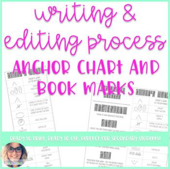 Writing Process and Editing Marks Bookmark