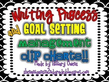 Writing Process and Goals Clip Chart