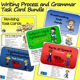 Writing Process and Grammar Task Card Bundle