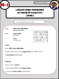 Writing Production Lesson Plans