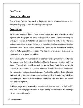 Writing Program - Biography