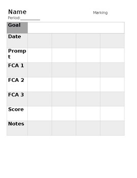 Writing Progress Monitoring