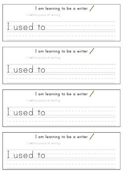 Writing Progress Reflections