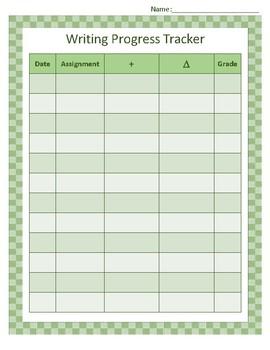 Writing Progress Tracker
