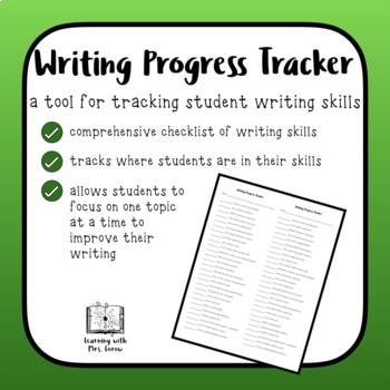 Writing Progress Tracking Document