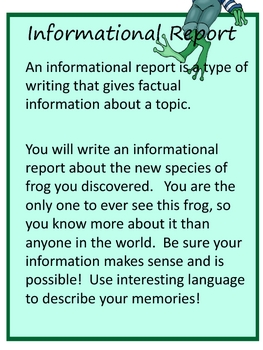 Writing Project: A New Frog Species has been Discovered!  18 pgs.