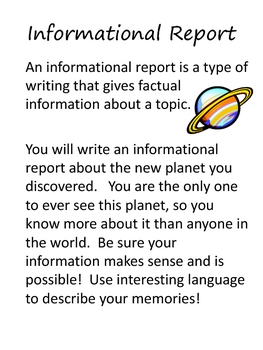 Writing Project: A New Planet Has Been Discovered!   18 pgs.