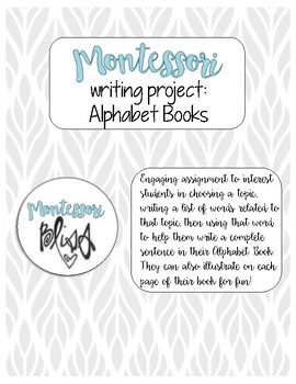 Writing Project: Alphabet Books