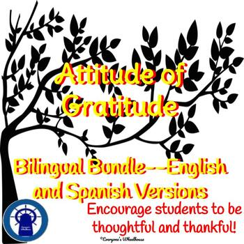 Writing Project: An Attitude of Gratitude Bilingual Bundle